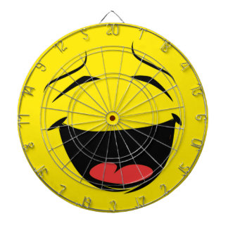 YELLOW SMILEY DARTBOARD