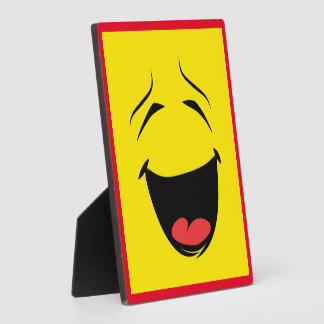 YELLOW SMILEY DISPLAY PLAQUES