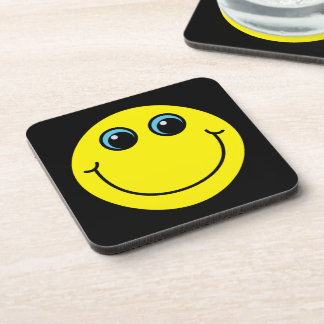 Yellow Smiley Face Drink Coasters