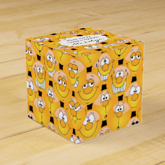 Yellow Smiley Face Emoji Design Favour Box