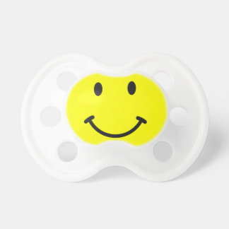 Yellow Smiley Face Infant Pacifier