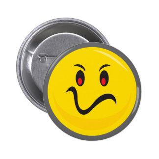 Yellow smiley face that is annoyed button