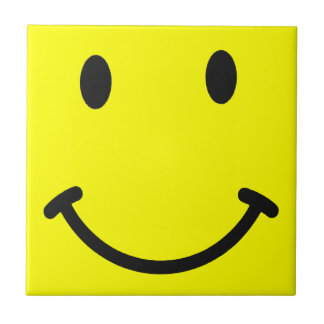 Yellow Smiley Face Tile Coaster