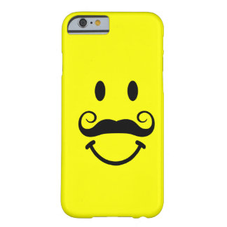 Yellow Smiley Face with Mustache iPhone 6 case Barely There iPhone 6 Case