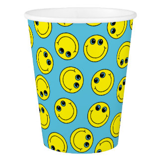 Yellow Smiley Faces Paper Cup