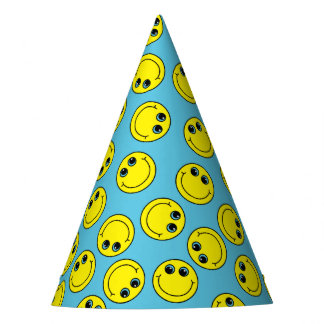 Yellow Smiley Faces Party Hat