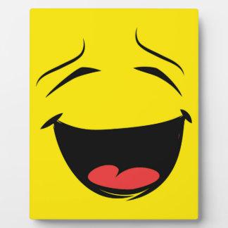 YELLOW SMILEY PHOTO PLAQUE