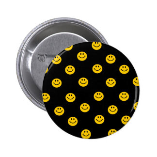 Yellow Smiley Polka Dot Pattern 6 Cm Round Badge