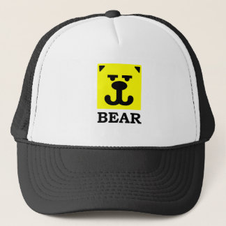Yellow Smiley Square Gay Bear Trucker Hat
