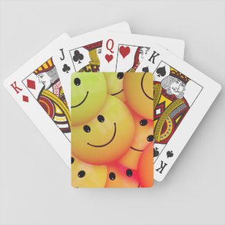 Yellow Smileys Playing Cards