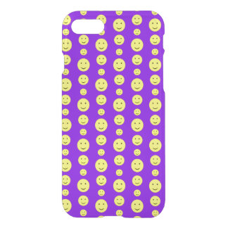 Yellow Smilies on Purple iPhone 7 Case
