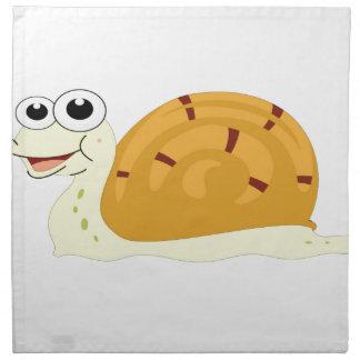 yellow snail in shell napkin