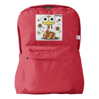 Yellow Snake Backpack, Red Backpack