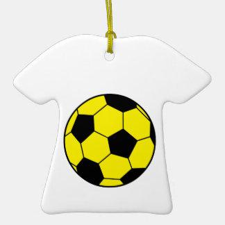 Yellow Soccer Ball Christmas Ornament