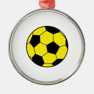 Yellow Soccer Ball Ornaments