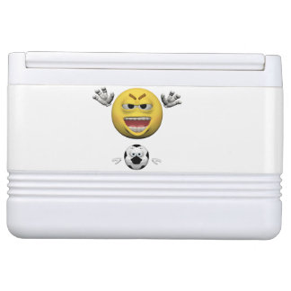 Yellow soccer emoticon or smiley cooler