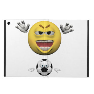 Yellow soccer emoticon or smiley cover for iPad air