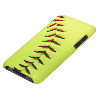 Yellow softball ball barely there iPod case