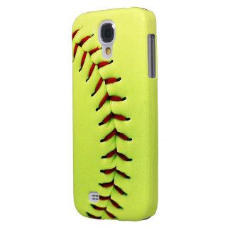 Yellow softball ball galaxy s4 covers