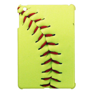 Yellow softball ball iPad mini cover