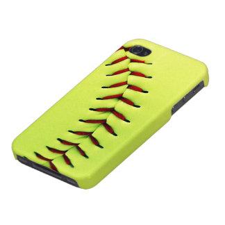 Yellow softball ball iPhone 4/4S cases