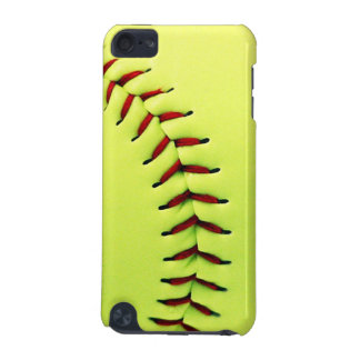 Yellow softball ball iPod touch (5th generation) cases