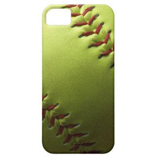 Yellow Softball Black Fade iPhone 5 Case