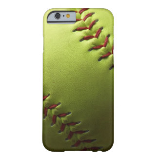 Yellow Softball Barely There iPhone 6 Case