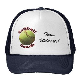Yellow Softball Coach Trucker Hat