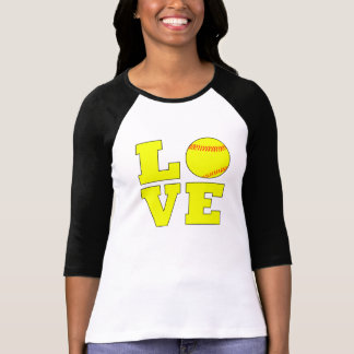 Yellow Softball Love Fastpitch Softball Shirt