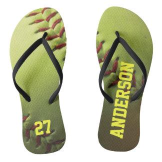 Yellow Softball Thongs