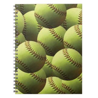 Yellow Softball Wallpaper Notebook