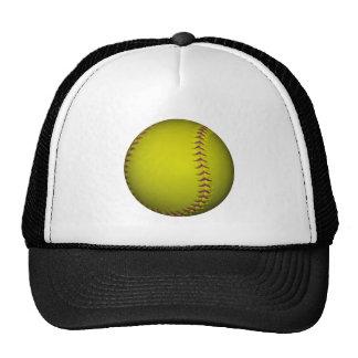 Yellow Softball With Purple Stitches Cap