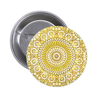 yellow solar plexus chakra mosaic circle buttons