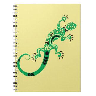 Yellow Southwestern Green Lizard Notebooks