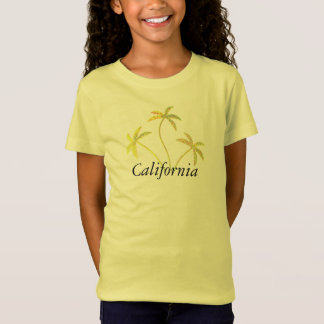 Yellow Sparkle Palm Tree T-Shirt