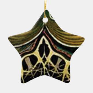 yellow spikes of wonder ceramic ornament