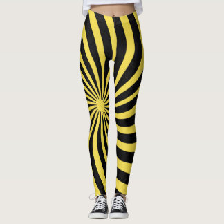 Yellow Spiral Leggings