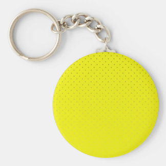 Yellow Spotted Backdrop Basic Round Button Key Ring