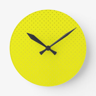 Yellow Spotted Backdrop Clocks