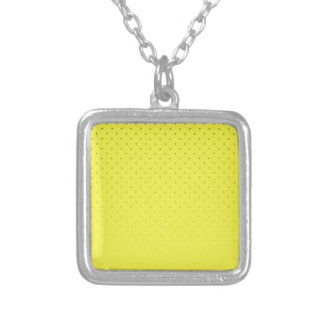 Yellow Spotted Backdrop Silver Plated Necklace