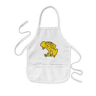 Yellow Spotted Frog Kids' Apron