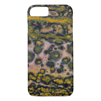 Yellow spotted Ocean Jasper iPhone 8/7 Case