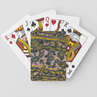 Yellow spotted Ocean Jasper Playing Cards