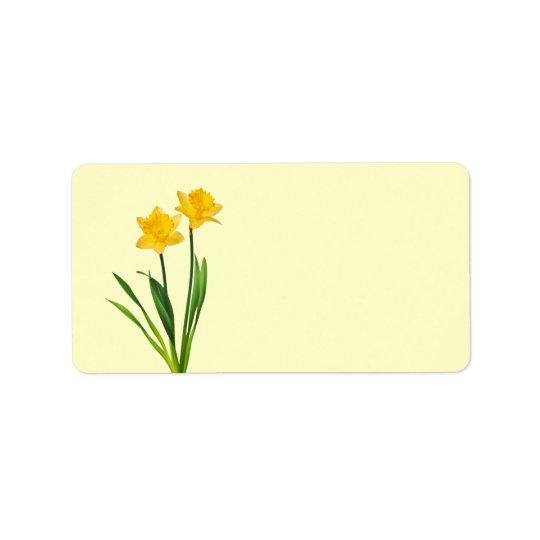 Yellow Spring Daffodils - Daffodil Template Address Label