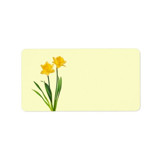 Yellow Spring Daffodils - Daffodil Template Label