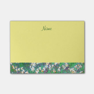 Yellow Spring Flower Garden Post-it Notes