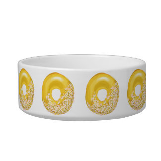 Yellow Sprinkles Doughnut. Bowl