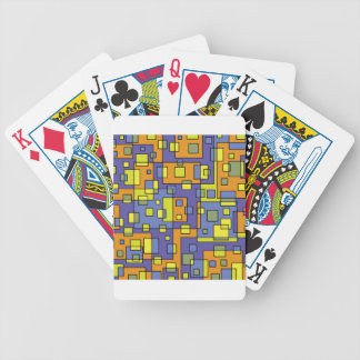 Yellow squares background bicycle playing cards
