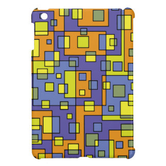 Yellow squares background case for the iPad mini